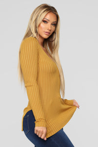 Giving Me The Feels Sweater - Mustard