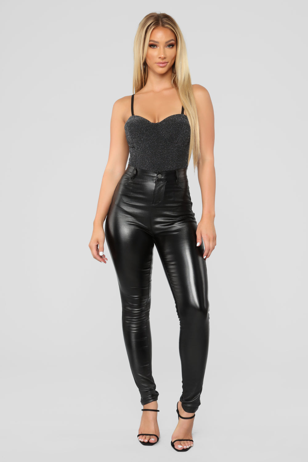 Love In This Club Bodysuit - Silver/Black