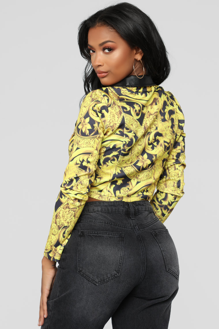 I Know You Moto Jacket - Yellow Combo
