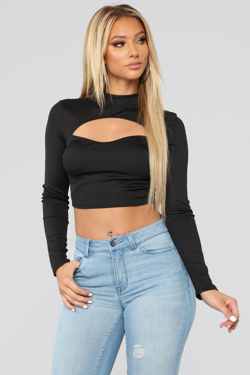 Dave Crop Top - Black