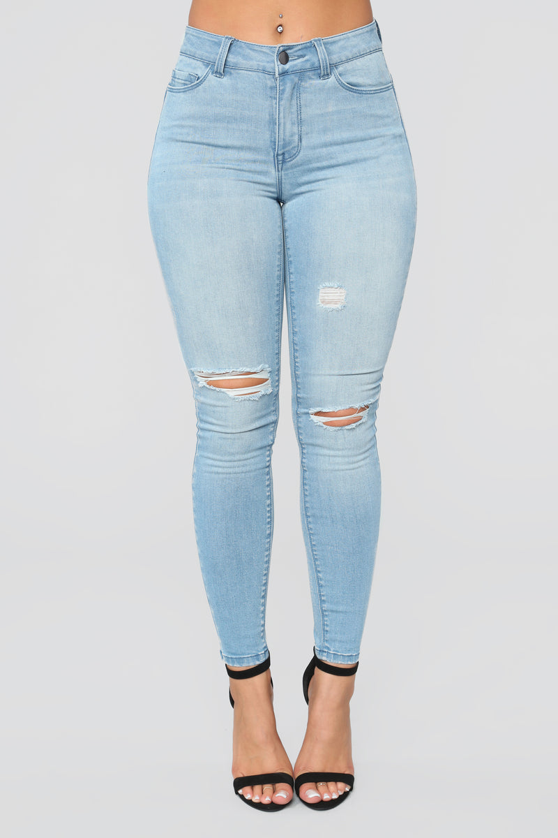 Rockin' All Night Skinny Jeans - Light Blue Wash