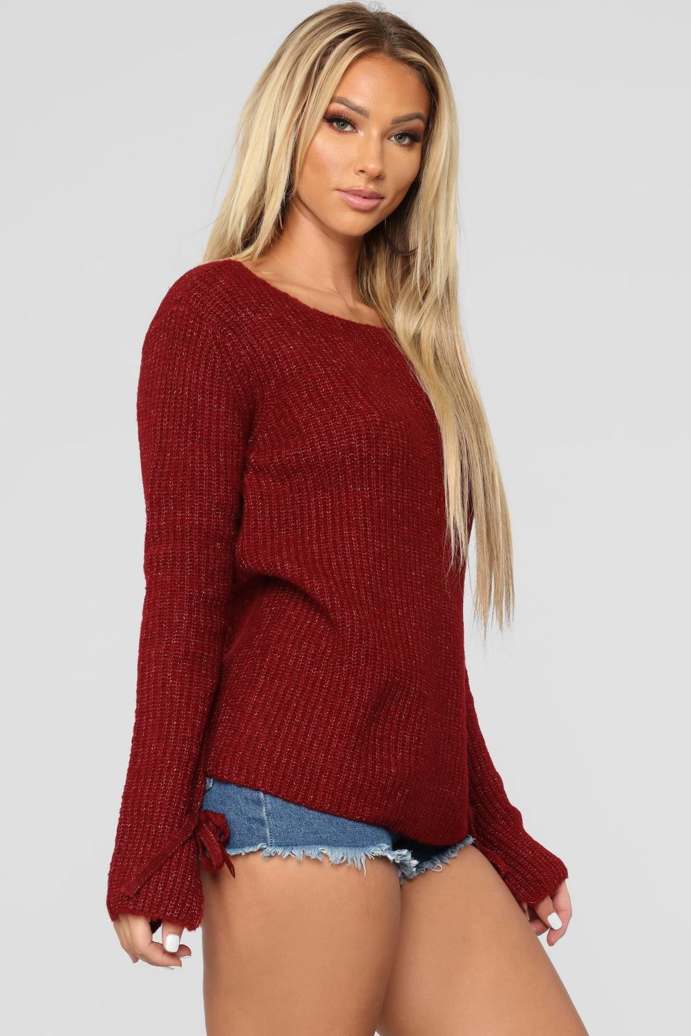 Embraced Sweater - Burgundy