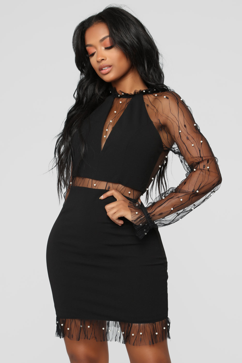 Don't Give Up Dress - Black