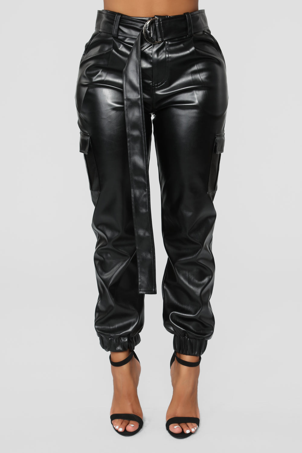 Belted In Joggers - Black
