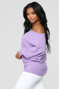 Run Me Down Sweater - Lavender