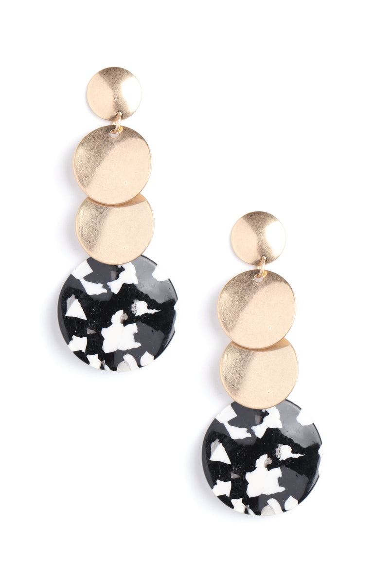 Disk Jockey Earrings - Black