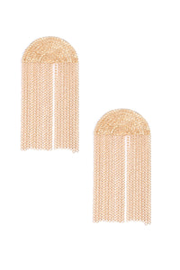 En Chain Ment Earrings - Gold
