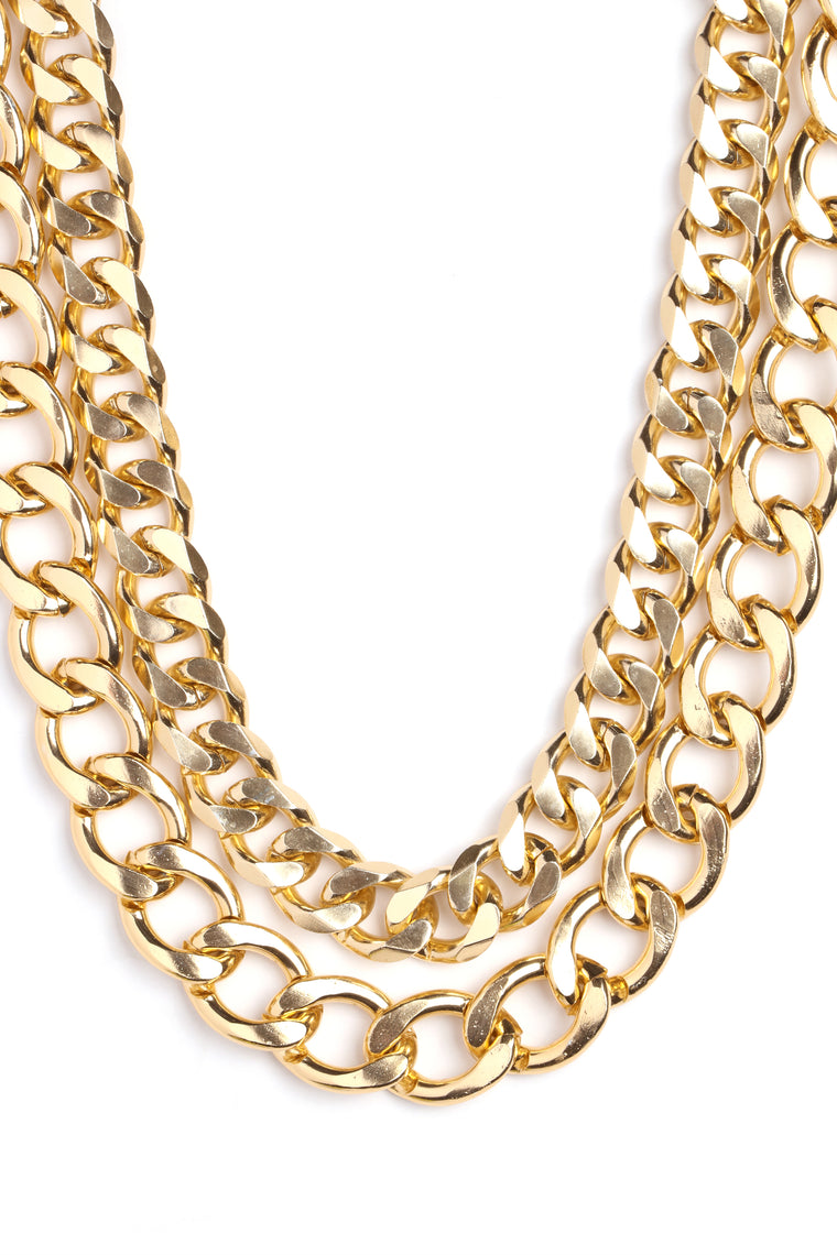 Linking Up Together Necklace - Gold