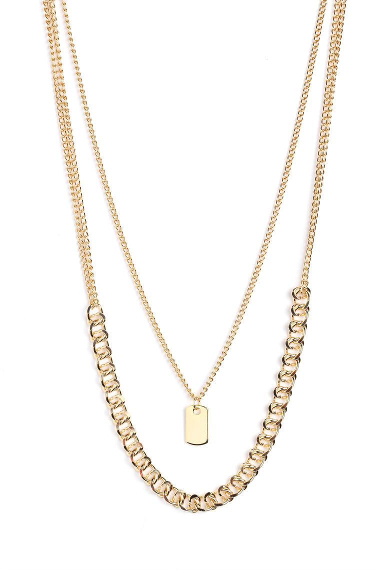 Ruff Life Necklace - Gold