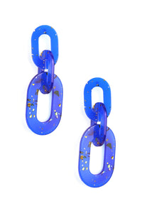 A Lucite To See Earrings - Blue