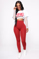 Smooth Operator High Rise Legging - Red