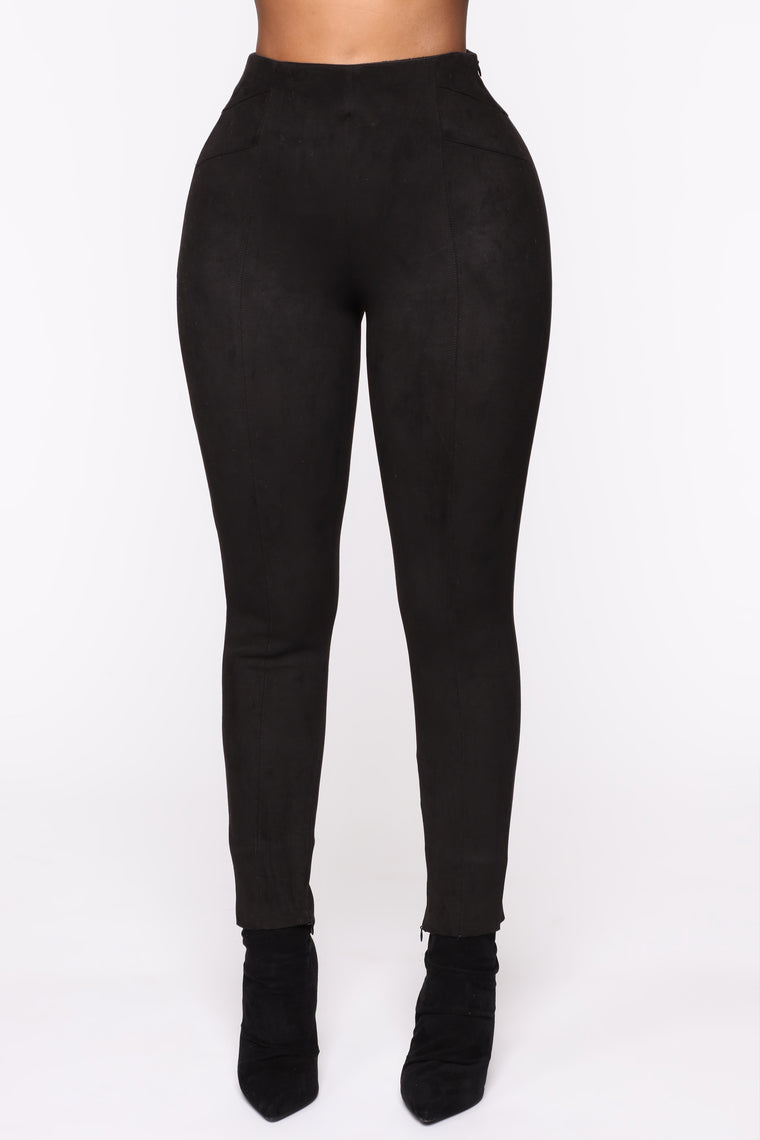 Susie Suede Pants - Black