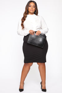 Surrendered Heart Skirt - Black Angle 1