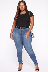 Luxe High Waist Skinny Jeans - Medium