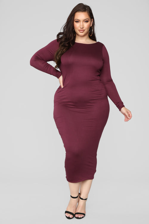 Carin Dress - Wine