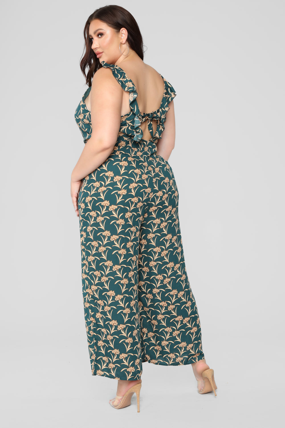 Picnic Date Floral Jumpsuit - Hunter Green