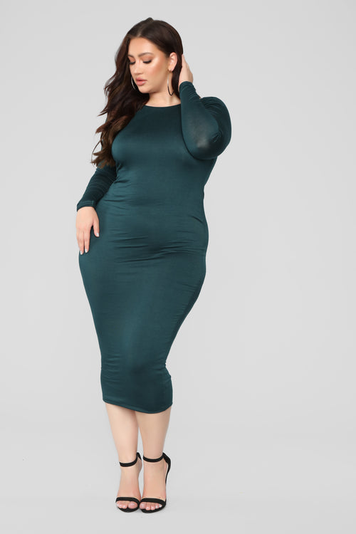 Carin Dress - Hunter Green