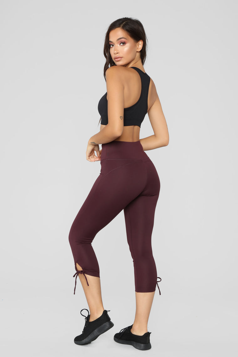 Something To Work With Performance Leggings - Plum