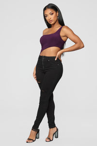 Cutting You Off Bodysuit - Purple