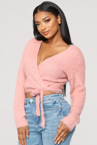 Nothings Into Somethings Cropped Sweater - Mauve