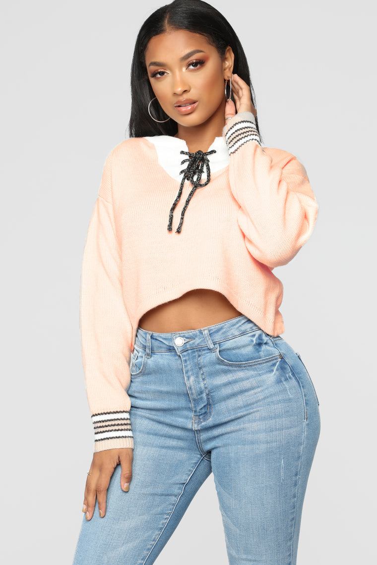Out Of Control Sweater   Pink/Combo by Fashion Nova