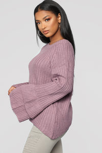 Make Time Sweater - Lavender