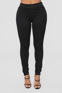 Slow Motion Moto Pants - Black