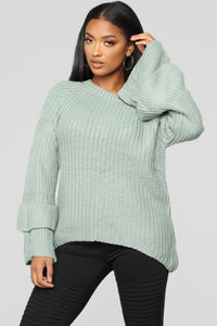 Make Time Sweater - Mint