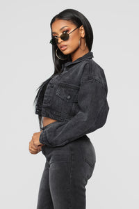Casey Denim Jacket - Black