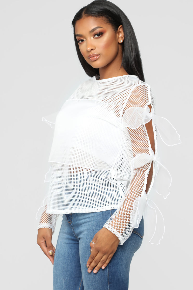 Sheer Success Top - White
