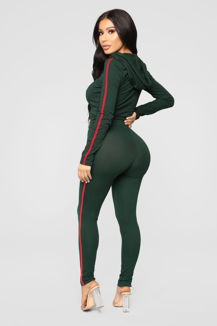 Tennis Time Long Sleeve Set - Hunter Green