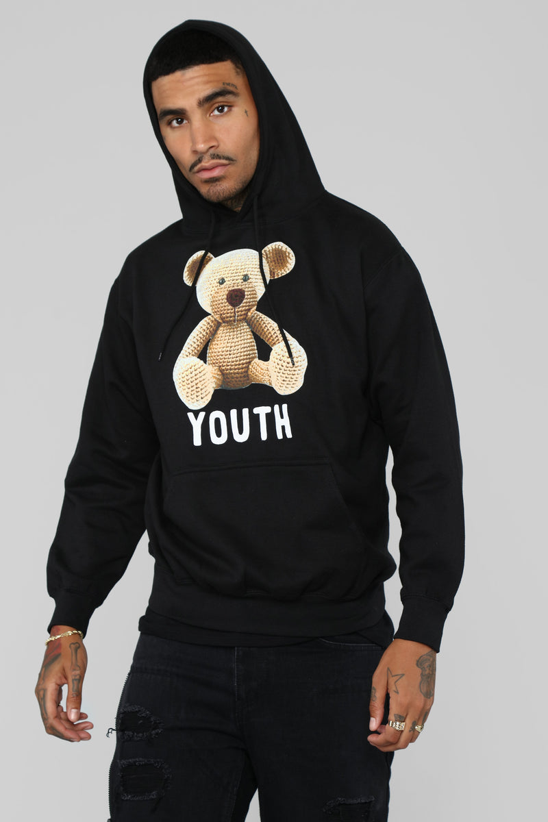 Teddy Youth Hoodie - Black