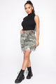 Active And Attractive Mini Skirt - Camouflage