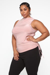 Back To Business Top - Blush Angle 4