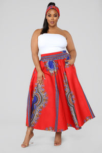 Diamond Life Skirt - Red