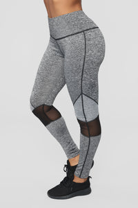 Go All The Way Active Leggings - Charcoal/Black