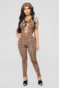 Labyrinth Jumpsuit - Camel