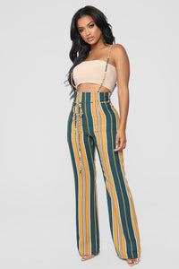 Amare Flare Pants - Mustard/Combo