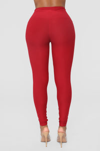 Never Basic Leggings - Marsala