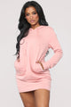 Terran Pullover Sweatshirt Dress - Mauve