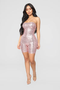 Birthday Bash Sequin Romper - Pink