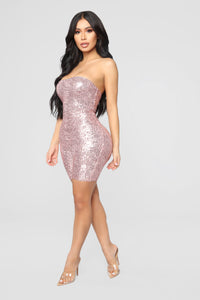 Birthday Bash Sequin Romper - Pink Angle 4