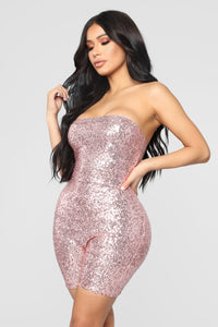 Birthday Bash Sequin Romper - Pink Angle 6