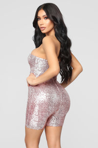 Birthday Bash Sequin Romper - Pink Angle 8