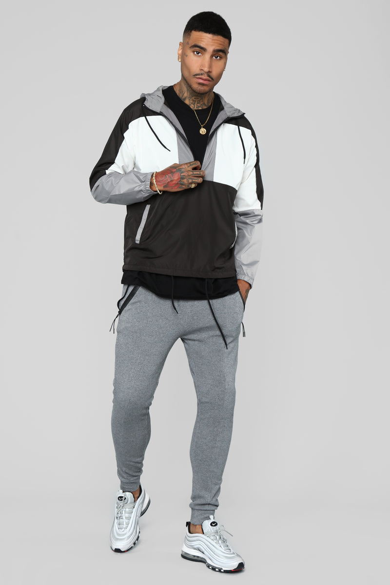 Lay Back And Relax Joggers - Grey