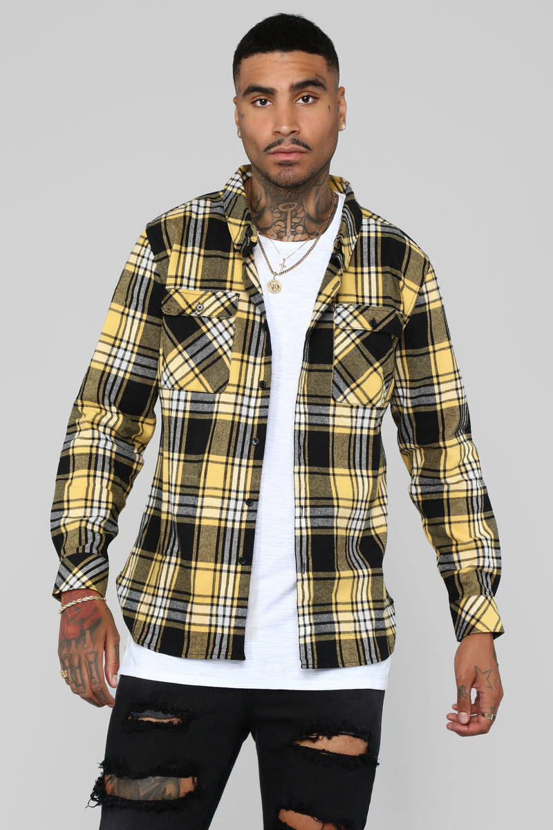 Leon Flannel Top - Yellow/Combo