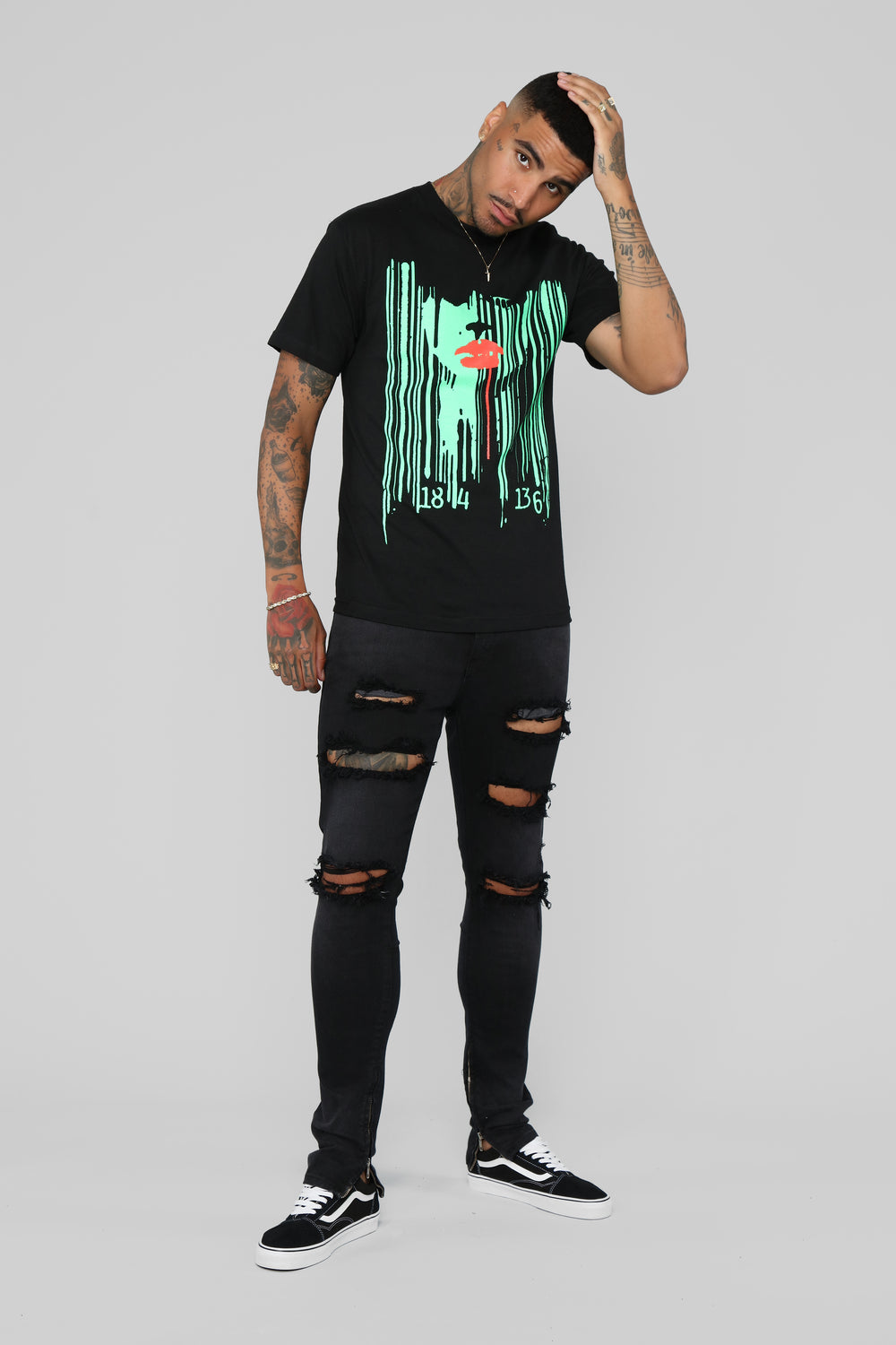 Wicked Drip Tee - Black