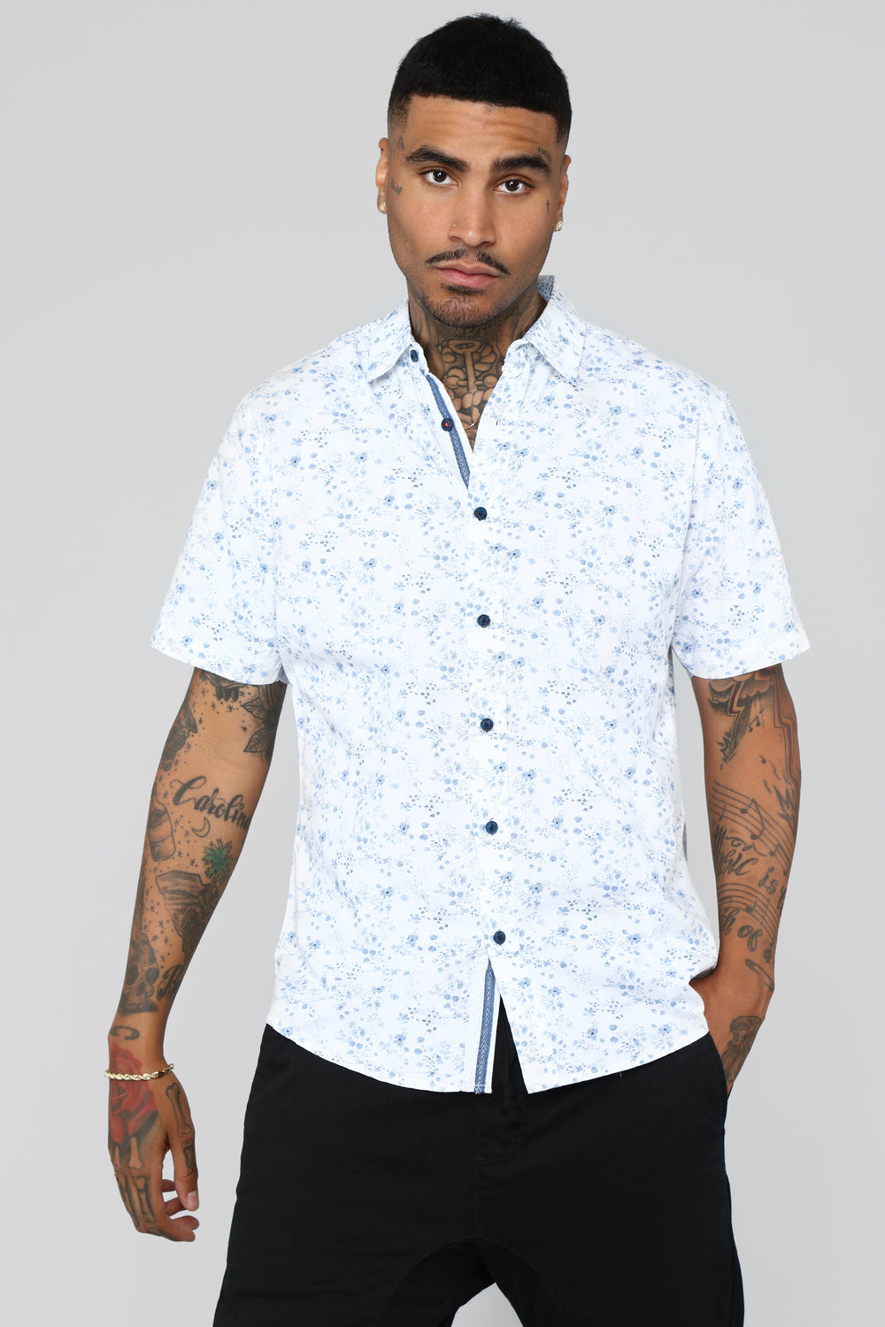 Charles Button Up Shirt - White