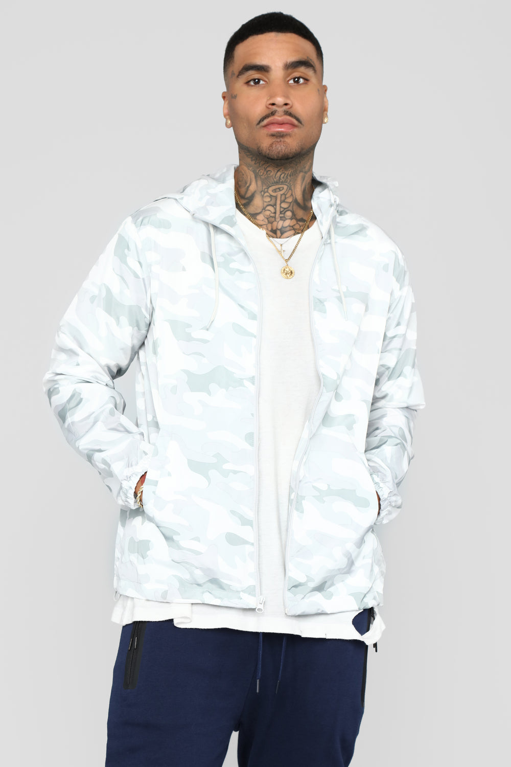 Stay Incognito Windbreaker - White