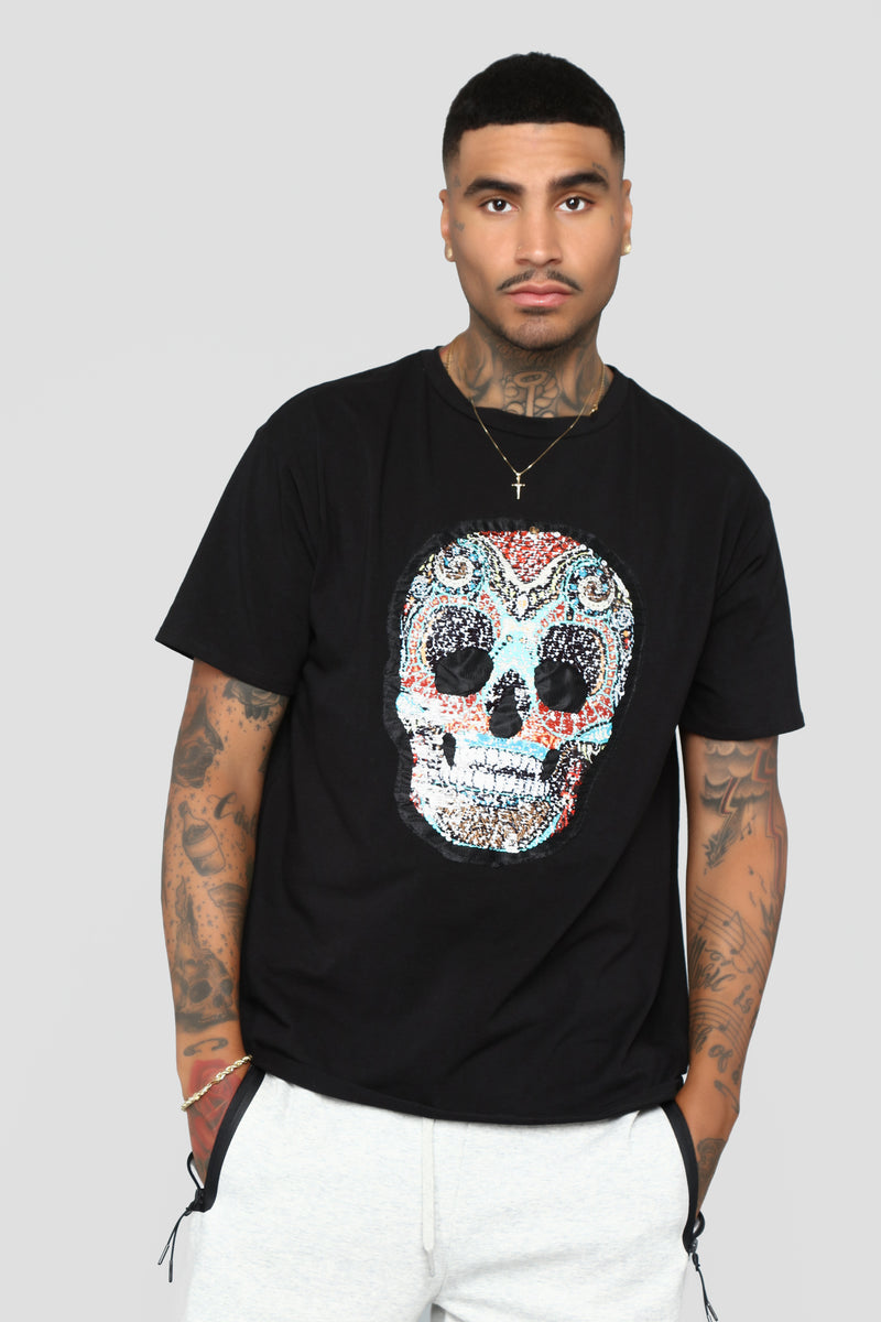 Gold Face SS Tee - Black/Combo